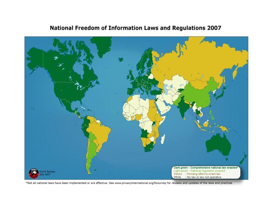 Una idea central La información es una condición necesaria para la realización del Estado democrático