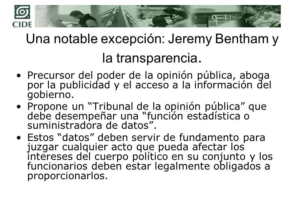 Jeremy Bentham y la publicidad de los actos de las asambleas representativas.