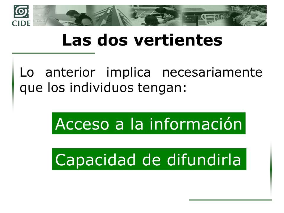 Las funciones democráticas de la transparencia Rendición de cuentas Evaluación de los gobernantes Control del poder público Fortalecimiento de la autoridad pública Detección y corrección de errores Incentivos para reducir la corrupción