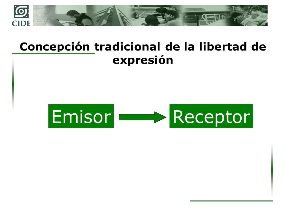 Nueva concepción de la libertad de expresión EmisorReceptor