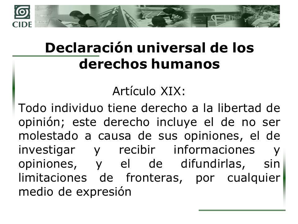 Formulación moderna de la libertad de expresión = derecho a la información Libertad de expresión (D.