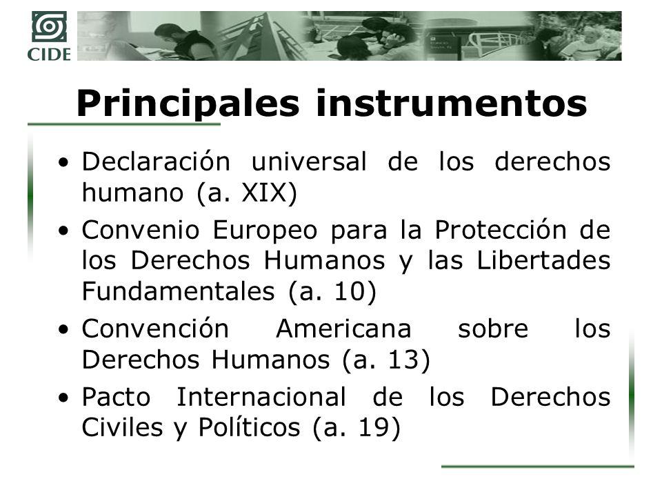 Primera reforma al a.6 constitucional Los a.