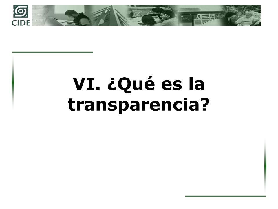 ¿De qué hablamos cuando hablamos de transparencia.