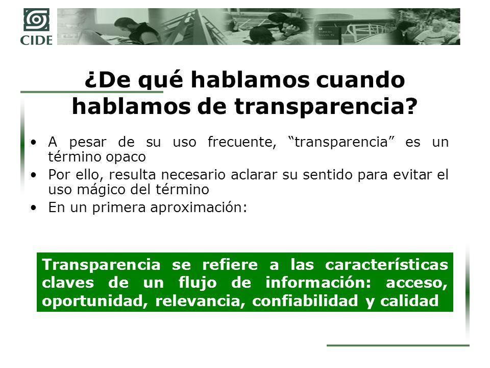 Una diferencia fundamental La información como derecho genera el derecho de acceso a la información La información como política pública es una acción gubernamental orientada a maximizar la publicidad de la información en el proceso de ejercicio del poder y de la acción gubernamental.