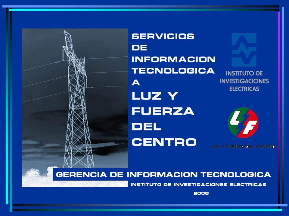 SERVICIOS DE INFORMACION TECNOLOGICA A LUZ Y FUERZA DEL CENTRO GERENCIA DE INFORMACION TECNOLOGICA INSTITUTO DE INVESTIGACIONES ELECTRICAS 2006