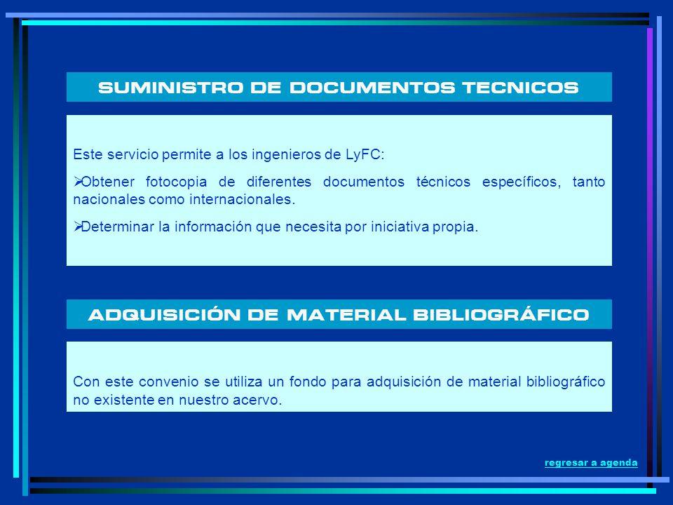 SUMINISTRO DE DOCUMENTOS TECNICOS Este servicio permite a los ingenieros de LyFC: Obtener fotocopia de diferentes documentos técnicos específicos, tan