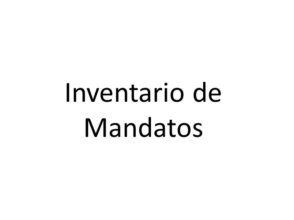 Inventario de Mandatos