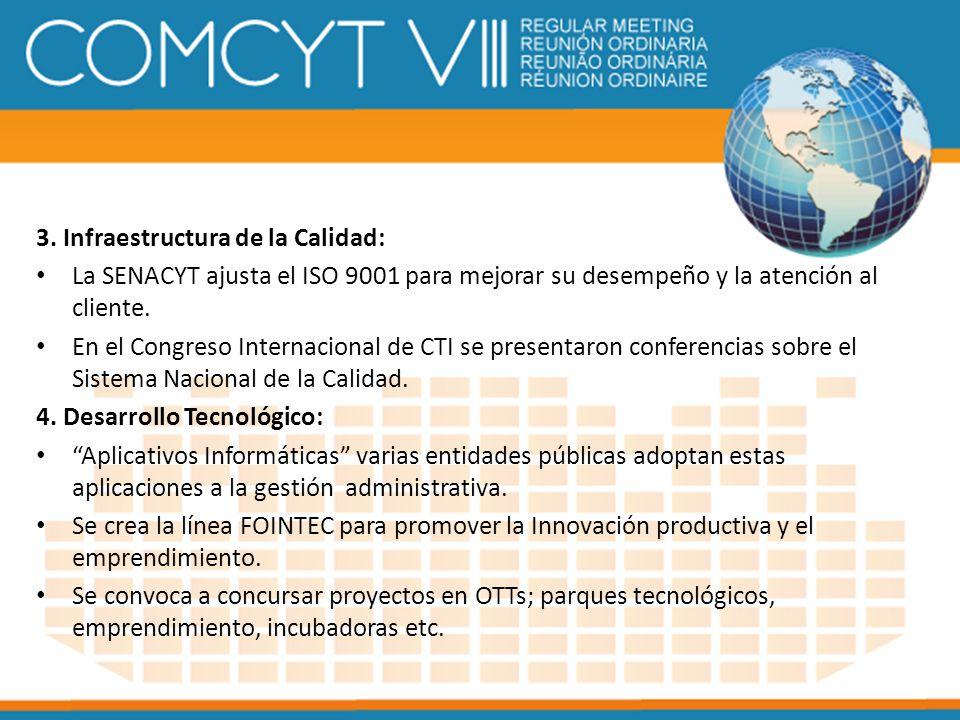 3. Infraestructura de la Calidad: La SENACYT ajusta el ISO 9001 para mejorar su desempeño y la atención al cliente. En el Congreso Internacional de CT