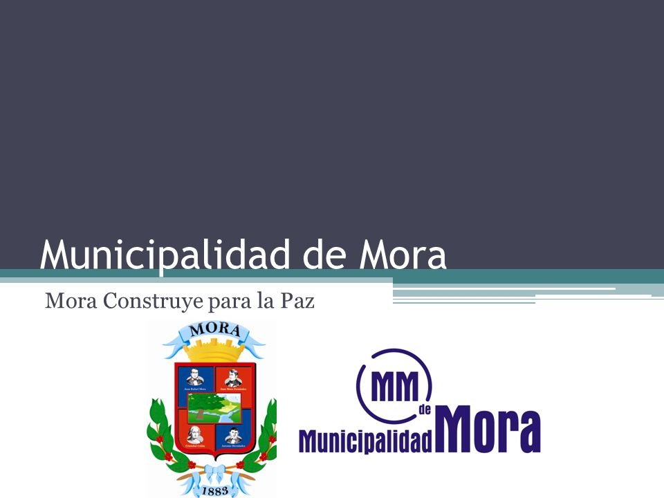 Municipalidad de Mora Mora Construye para la Paz