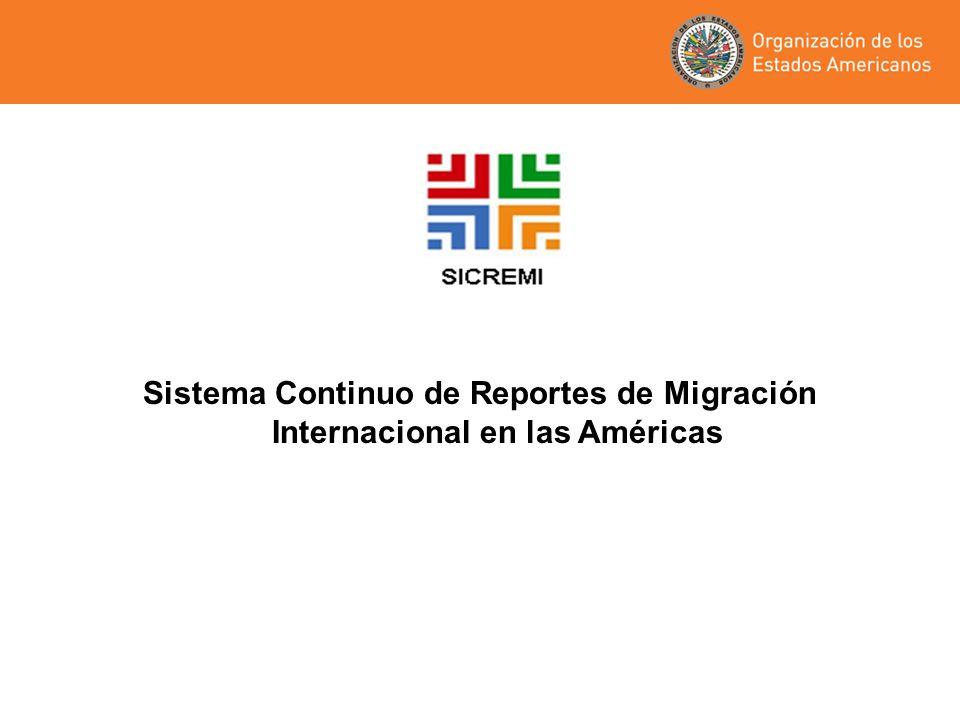 Sistema Continuo de Reportes de Migración Internacional en las Américas