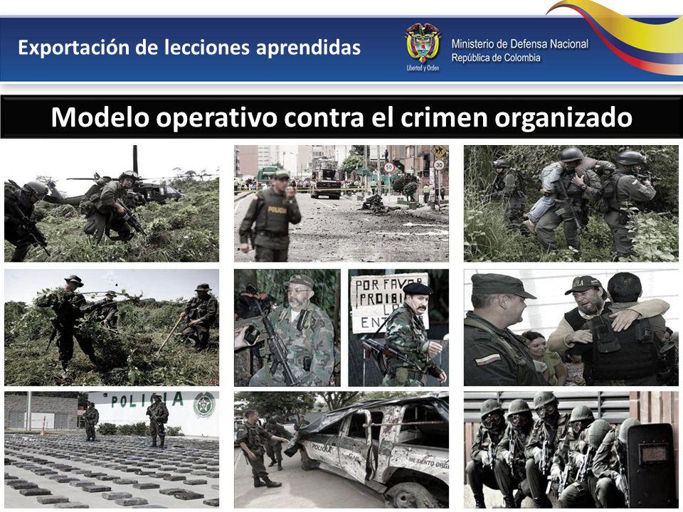 Modelo operativo contra el crimen organizado Lucha contra el terrorismoLucha contra el narcotráficoLucha contra el secuestro Exportación de lecciones