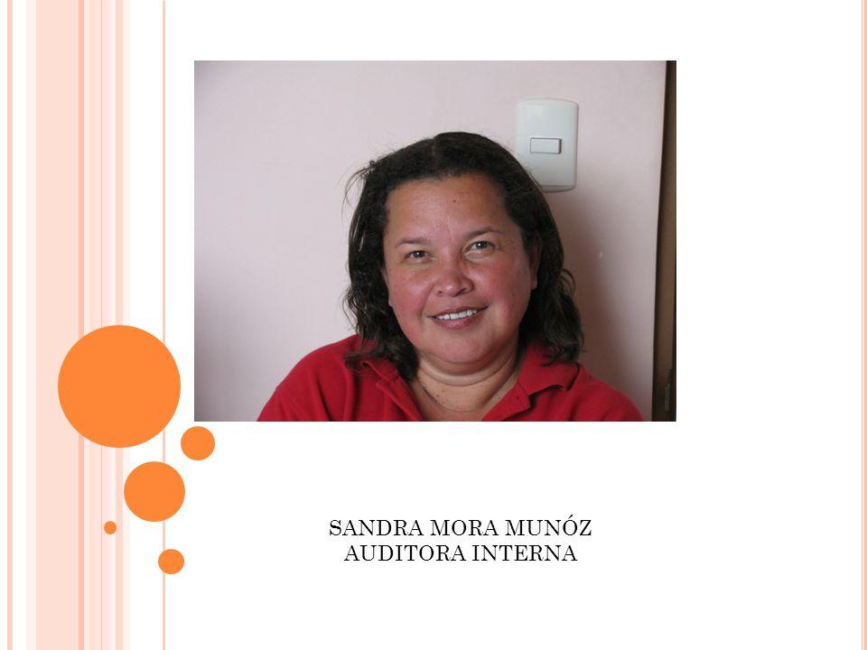 SANDRA MORA MUNÓZ AUDITORA INTERNA
