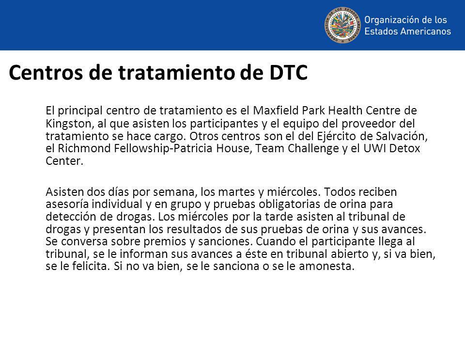 Centros de tratamiento de DTC El principal centro de tratamiento es el Maxfield Park Health Centre de Kingston, al que asisten los participantes y el equipo del proveedor del tratamiento se hace cargo.