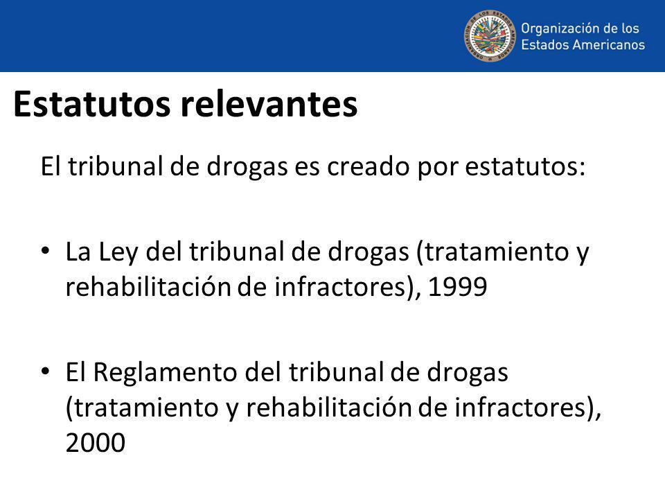 Objetivos de la Ley La sección 3 de la Ley establece como sus objetivos: (a) Reducir la incidencia del consumo de drogas y su dependencia cuando se determina que las actividades delictivas de las personas están vinculadas con ella.
