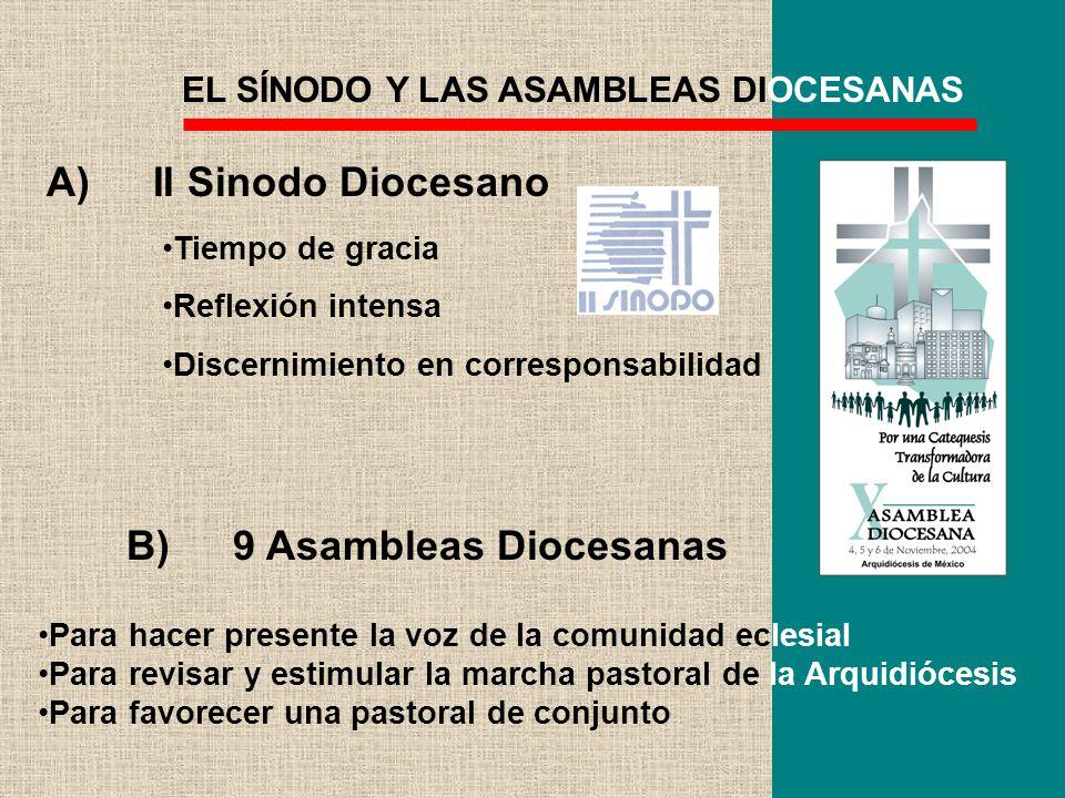 EL SÍNODO Y LAS ASAMBLEAS DIOCESANAS Tiempo de gracia Reflexión intensa Discernimiento en corresponsabilidad Para hacer presente la voz de la comunida