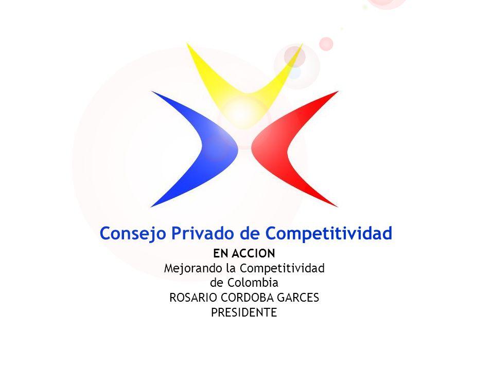 Consejo Privado de Competitividad EN ACCION Mejorando la Competitividad de Colombia ROSARIO CORDOBA GARCES PRESIDENTE