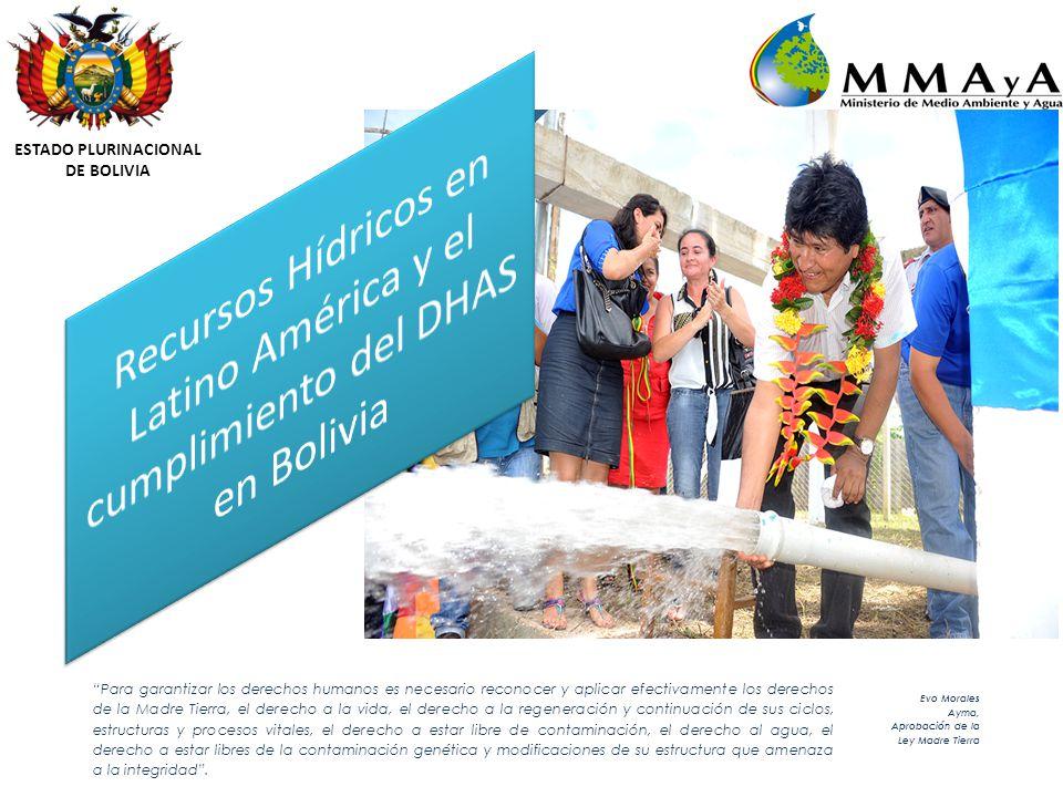 ESTADO PLURINACIONAL DE BOLIVIA Para garantizar los derechos humanos es necesario reconocer y aplicar efectivamente los derechos de la Madre Tierra, el derecho a la vida, el derecho a la regeneración y continuación de sus ciclos, estructuras y procesos vitales, el derecho a estar libre de contaminación, el derecho al agua, el derecho a estar libres de la contaminación genética y modificaciones de su estructura que amenaza a la integridad.