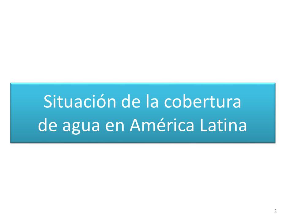 Situación de la cobertura de agua en América Latina 2