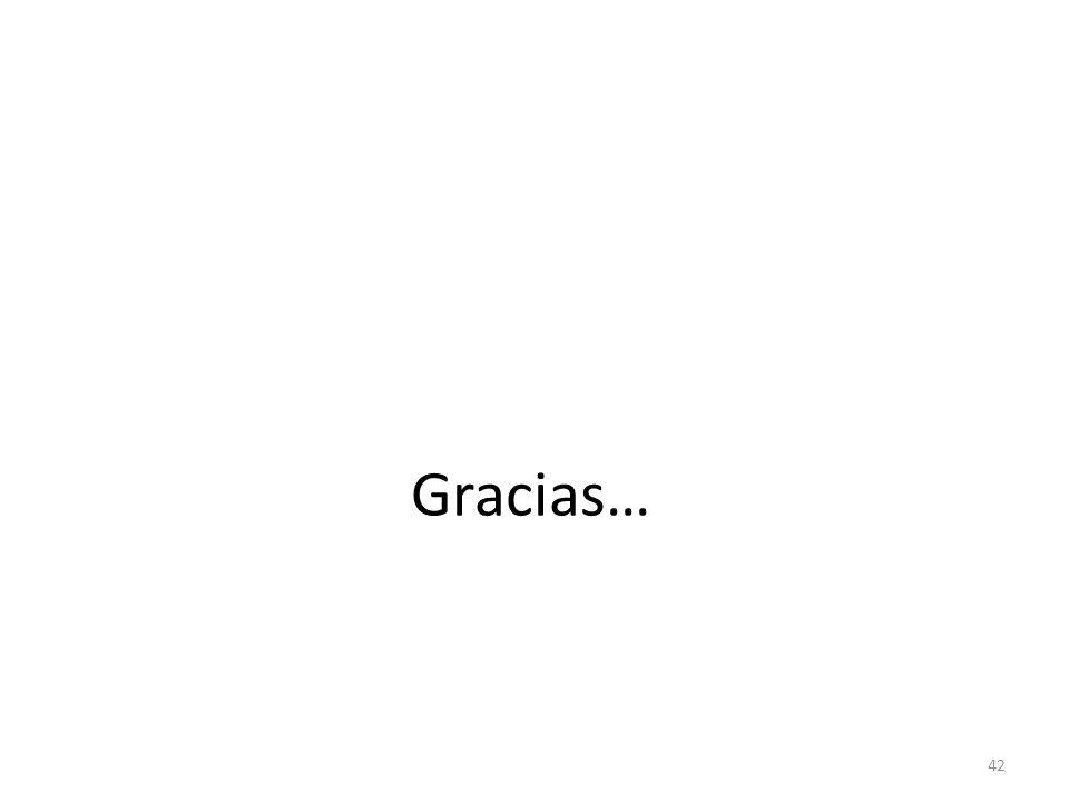 Gracias… 42