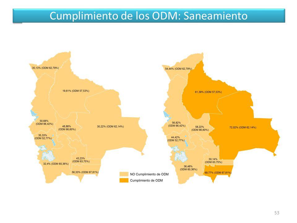 Cumplimiento de los ODM: Saneamiento 53