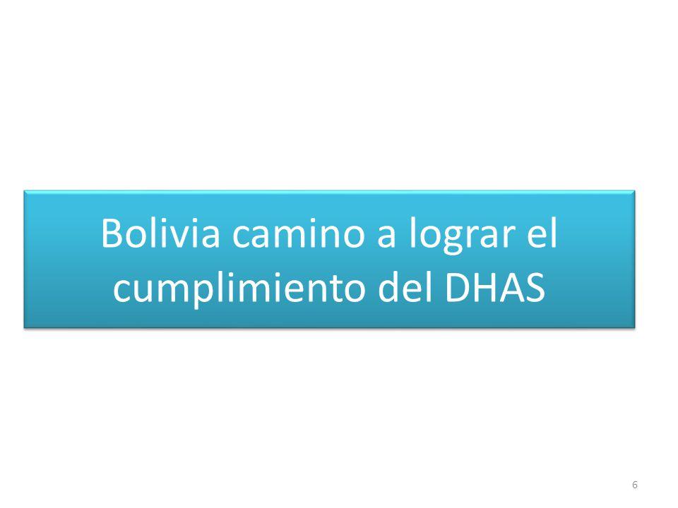 Bolivia camino a lograr el cumplimiento del DHAS 6
