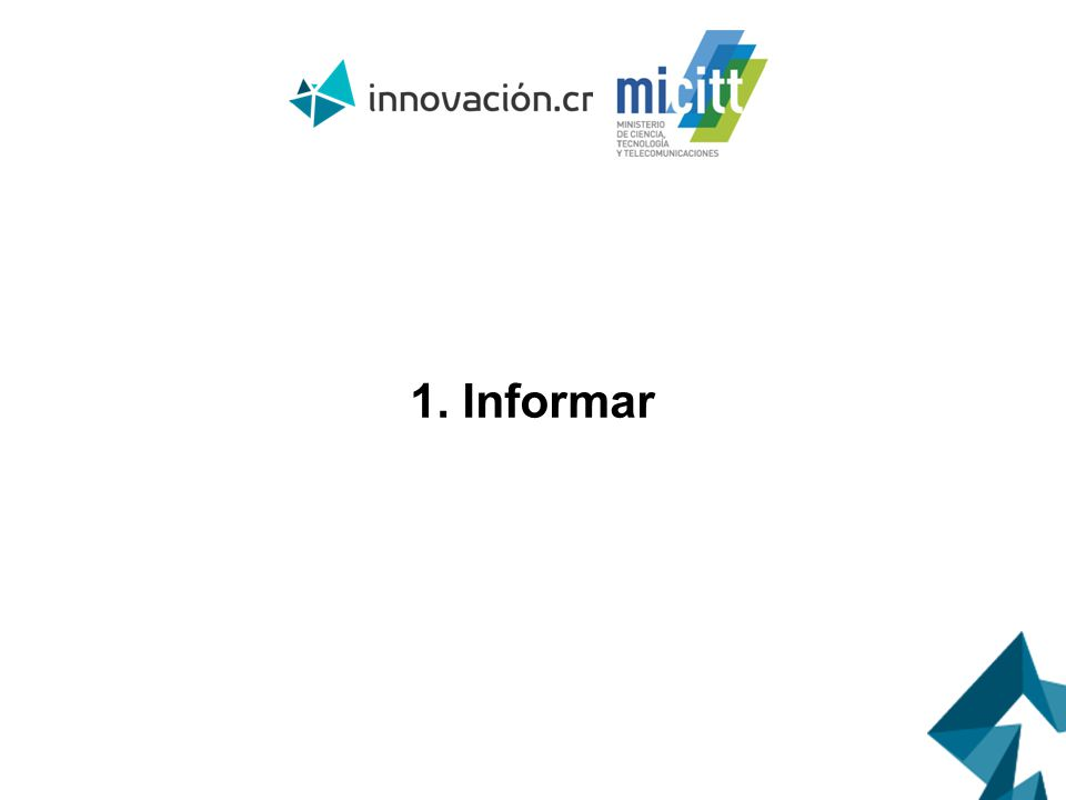 1. Informar