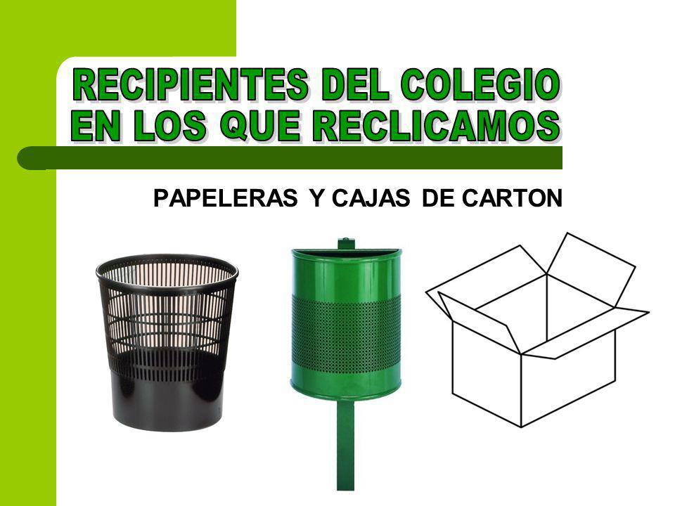 PAPELERAS Y CAJAS DE CARTON