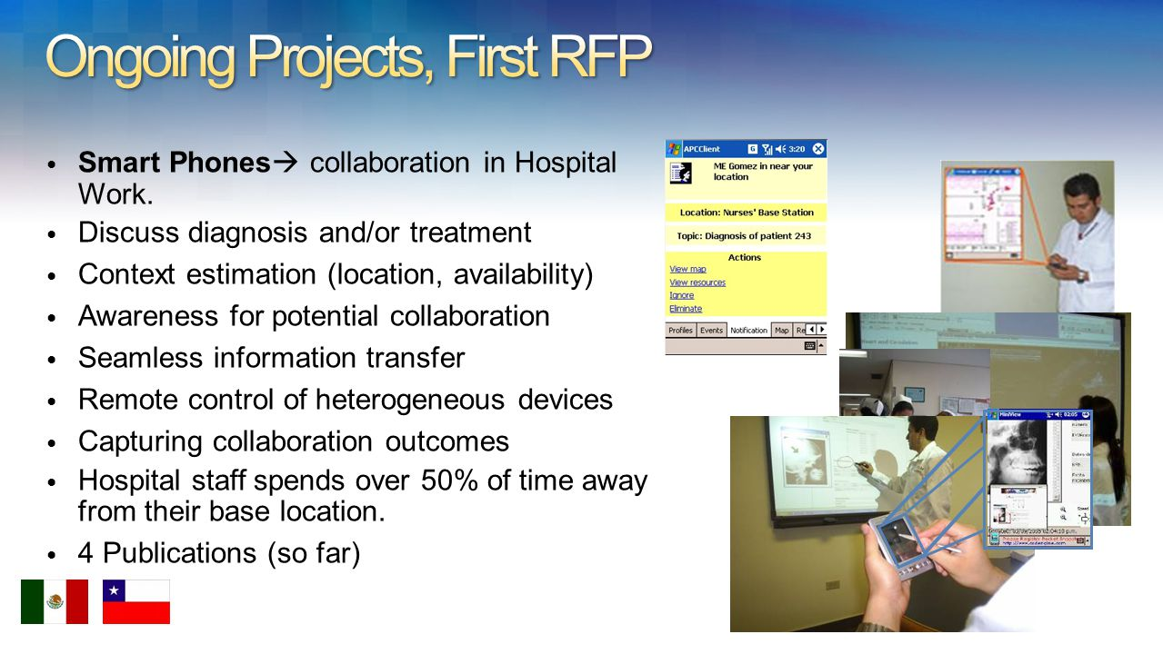 Smart Phones collaboration in Hospital Work.