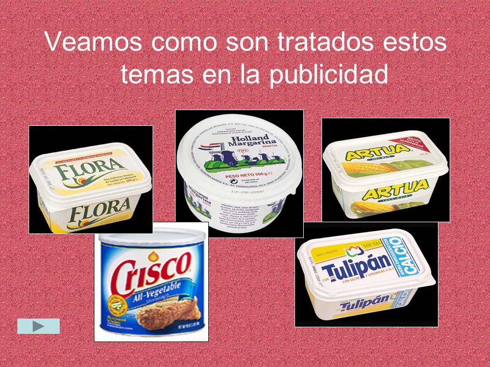 TULIPÁN, FLORA, PRIMAVERA… La mayoría de las margarinas tienen nombres relacionados con el mundo vegetal.