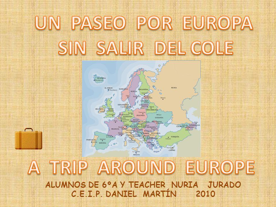Utilizamos nuestro libro de texto y hacemos también un estudio interactivo de los mapas de Europa: http://www.xtec.cat/~ealonso/flash/mapasflash.htm http://www.xtec.cat/~ealonso/flash/mapasflash.htm