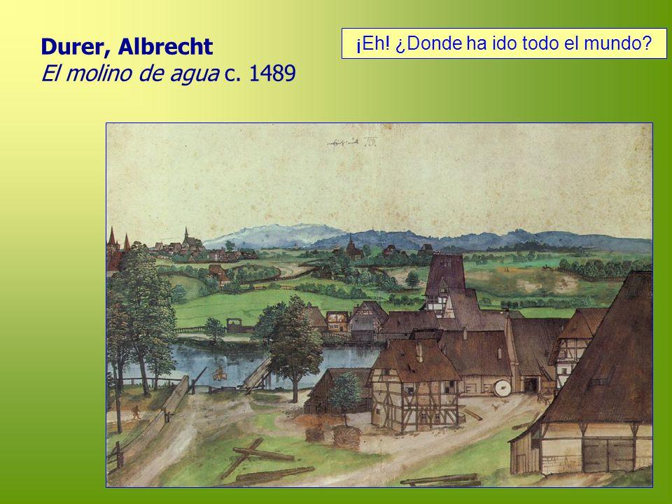 Durer, Albrecht El molino de agua c. 1489 ¡Eh! ¿Donde ha ido todo el mundo?