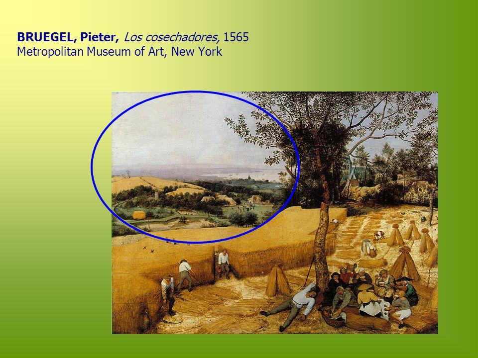 BRUEGEL, Pieter, Los cosechadores, 1565 Metropolitan Museum of Art, New York