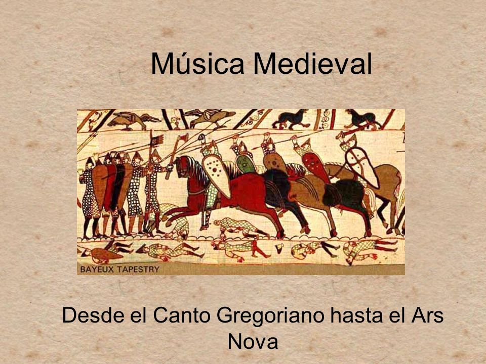 Música Medieval Desde el Canto Gregoriano hasta el Ars Nova