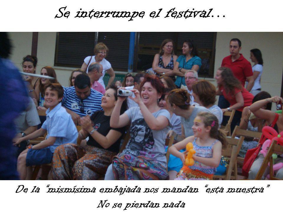 Se interrumpe el festival… De la mismísima embajada nos mandan esta muestra No se pierdan nada