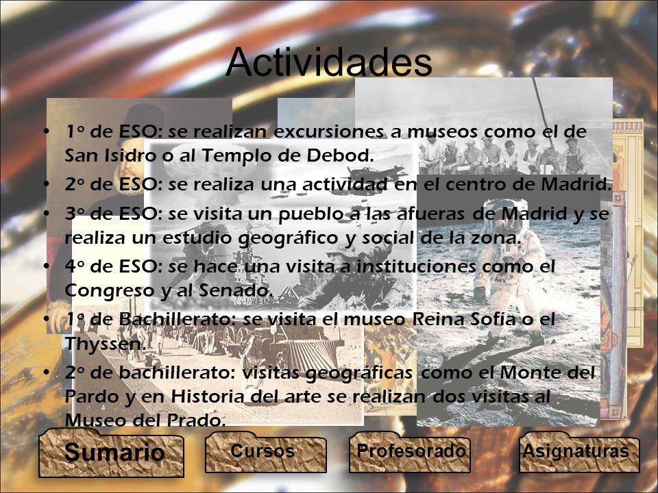 Actividades 1º de ESO: se realizan excursiones a museos como el de San Isidro o al Templo de Debod.
