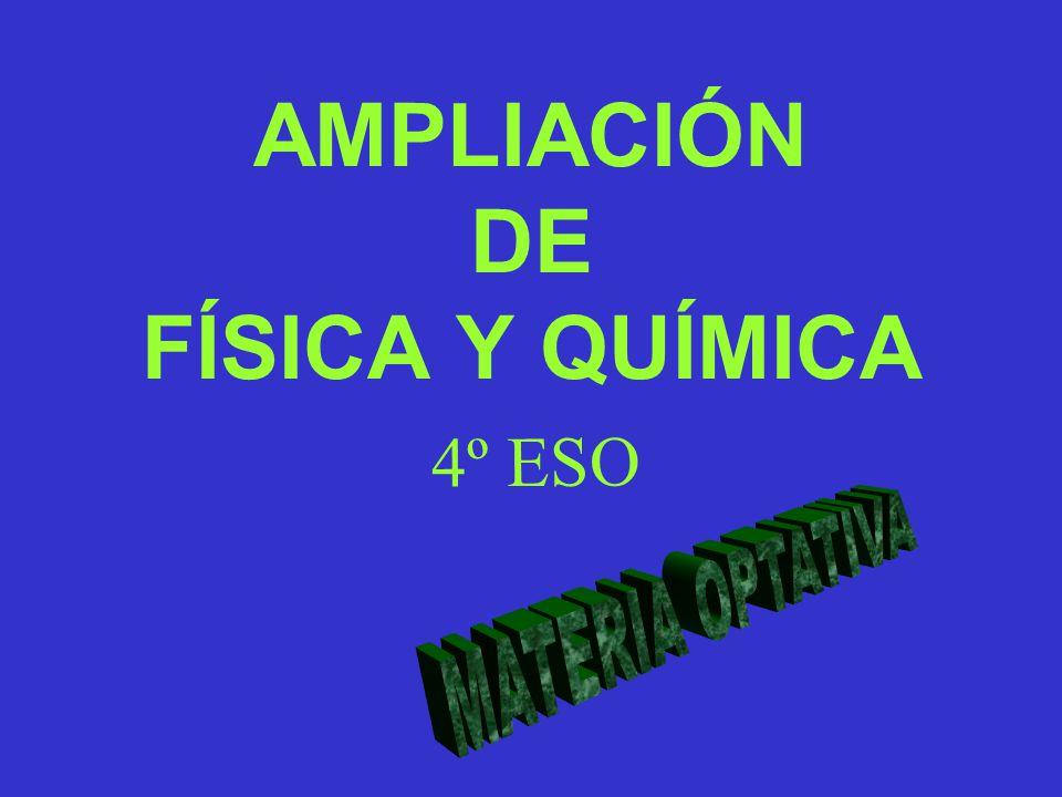 AMPLIACIÓN DE FÍSICA Y QUÍMICA 4º ESO