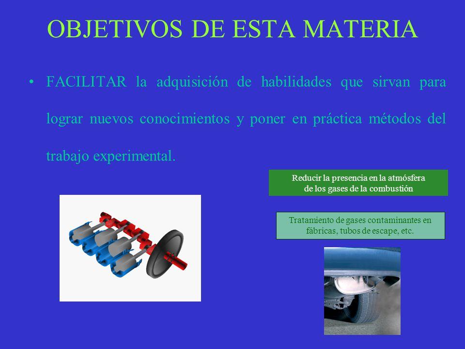 OBJETIVOS DE ESTA MATERIA ESTUDIAR contenidos que serán de utilidad para estudios posteriores, en particular, en el Bachillerato, en la modalidad de C