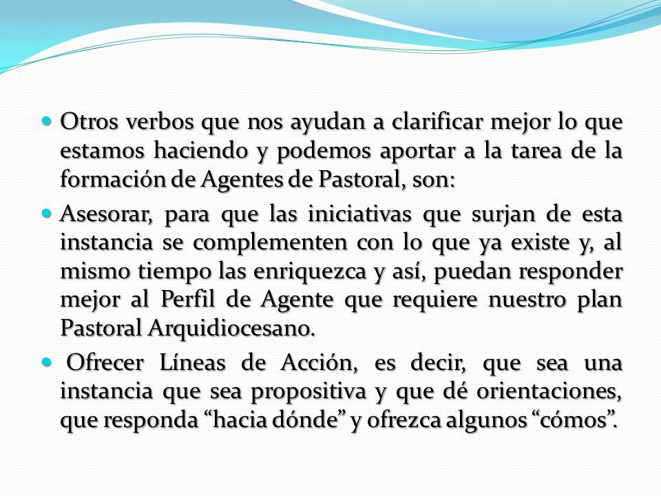 Este trabajo lo encabezan: Las Vicarías Episcopales de Pastoral: tanto la de Áreas, como la de Agentes, así como la Vicaría para los Laicos y para la Vida Consagrada.