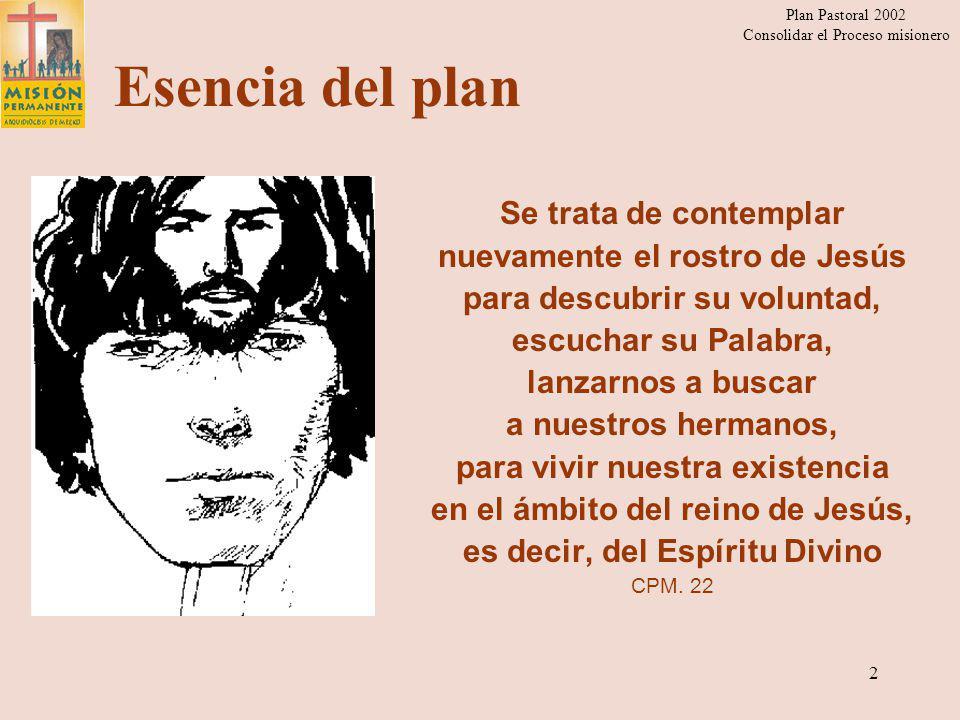 Plan Pastoral 2002 Consolidar el Proceso misionero 1 Presentación del plan pastoral 2002 Arquidiócesis de México Consolidar el Proceso Misionero