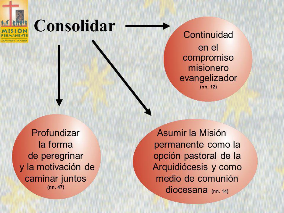 Plan Pastoral 2002 Consolidar el Proceso misionero 5 Objetivo del Plan 2002 (n.