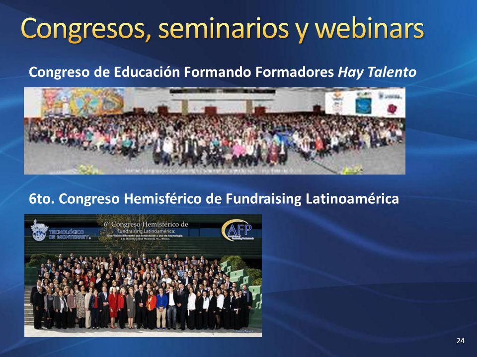 Congreso de Educación Formando Formadores Hay Talento 6to. Congreso Hemisférico de Fundraising Latinoamérica 24