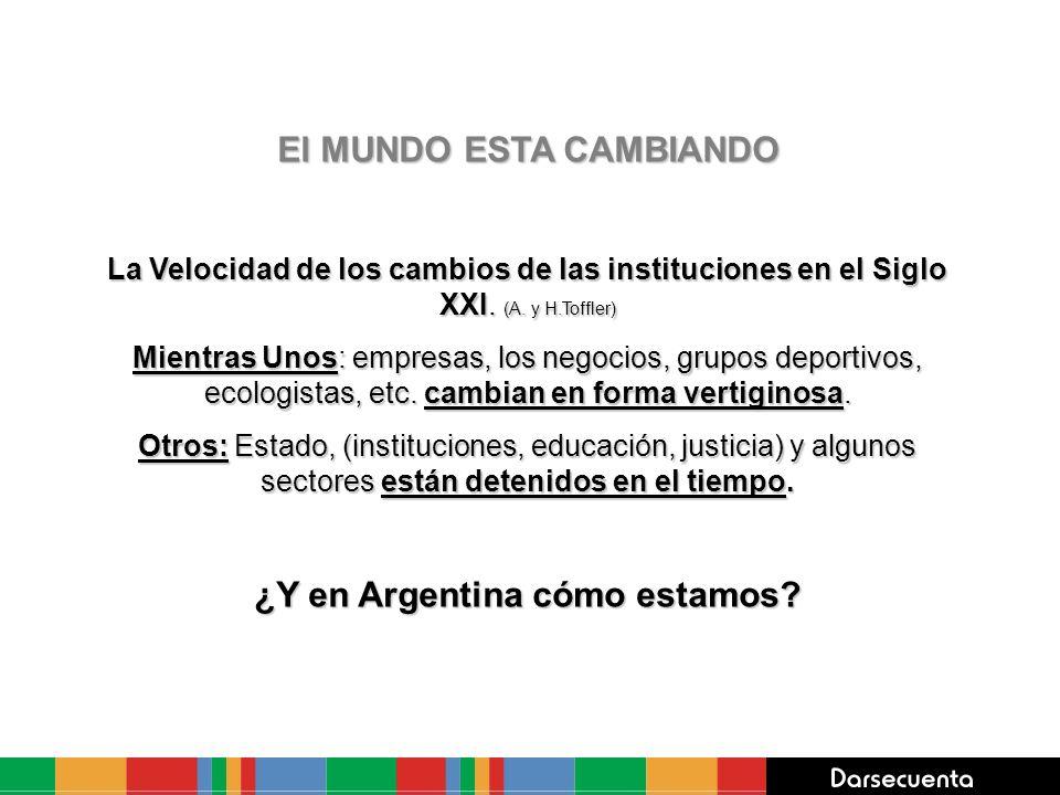 El MUNDO ESTA CAMBIANDO La Velocidad de los cambios de las instituciones en el Siglo XXI.