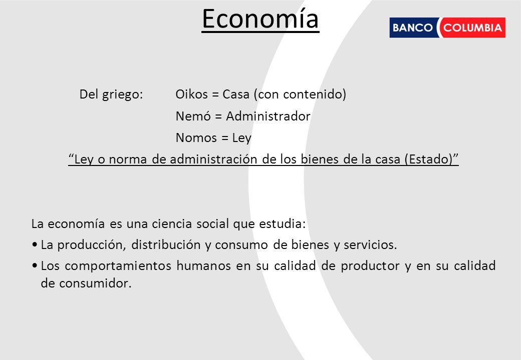 La economía se divide en dos grandes campos: Microeconomía: El estudio del comportamiento económico de individuos o empresas tanto como oferentes como demandantes, explicando la determinación de variables como precio, salarios, márgenes y rentas.