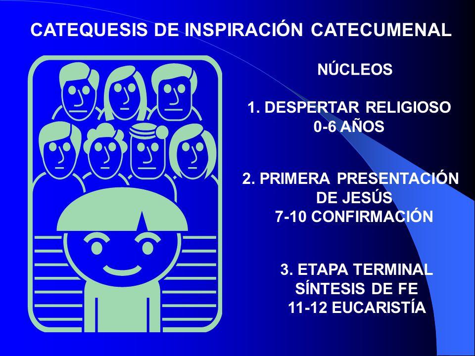 CATEQUESIS DE INSPIRACIÓN CATECUMENAL CARACTERÍSTICAS: 1.ES UNA ININCIACIÓN ORGÁNICA EN EL CONOCIMIENTO DEL MISTERIO DE CRISTO Y DEL PLAN SALVADOR DE