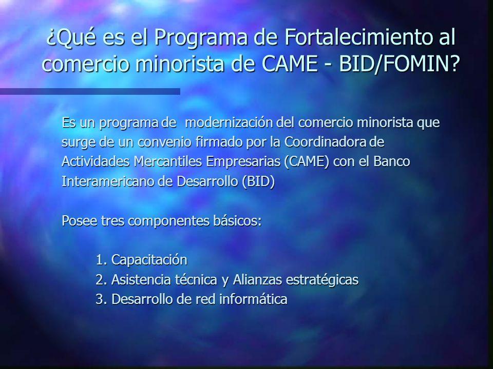 ¿Qué es el Programa de Fortalecimiento al comercio minorista de CAME - BID/FOMIN.