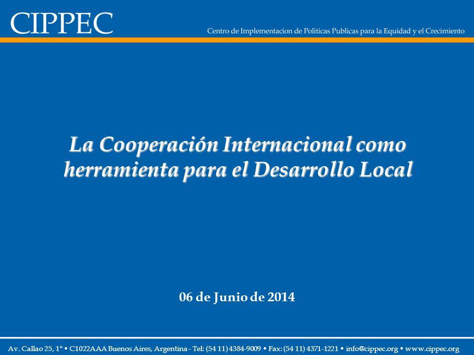 La Cooperación Internacional como herramienta para el Desarrollo Local 06 de Junio de 2014 Av. Callao 25, 1° C1022AAA Buenos Aires, Argentina - Tel: (