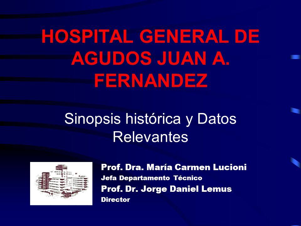 Algunos datos relevantes del Hospital Determinaciones de Laboratorio 400 mil en internación 700 mil en consultorios externos 430 mil por Guardia Un millón quinientas mil anuales