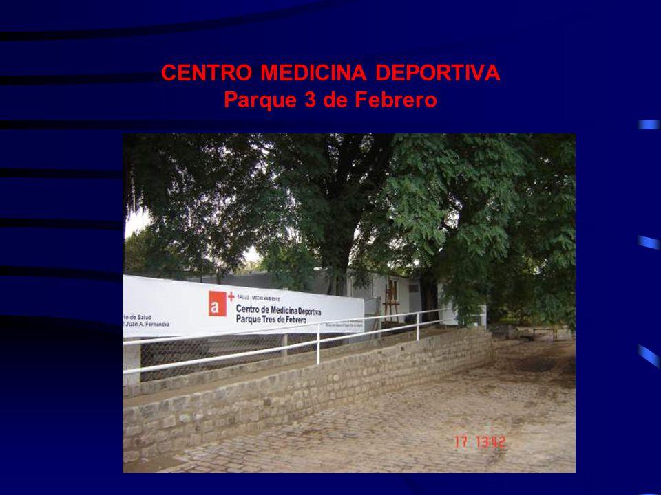 CENTRO MEDICINA DEPORTIVA Parque 3 de Febrero