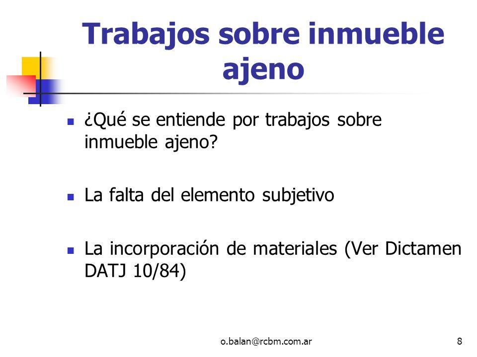 o.balan@rcbm.com.ar49 El Fideicomiso como sujeto tributario El Fideicomiso no es persona jurídica pero puede ser sujeto pasivo de impuestos (art.