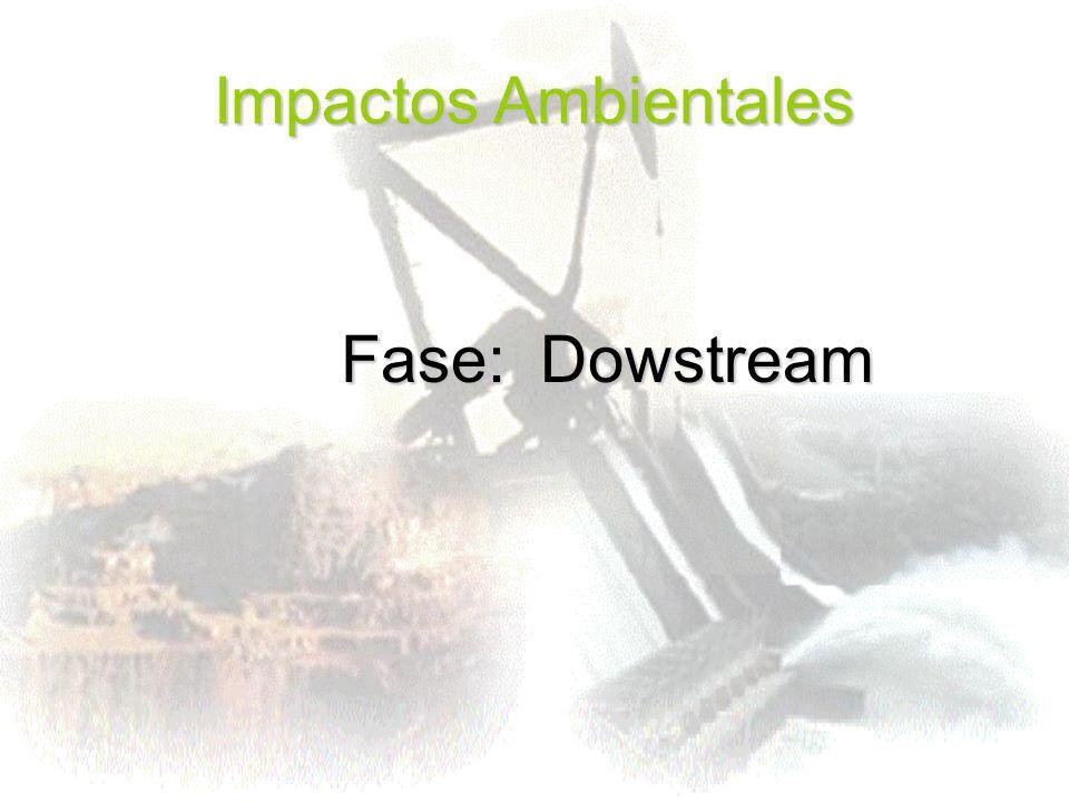 Impactos Ambientales Fase: Dowstream Fase: Dowstream
